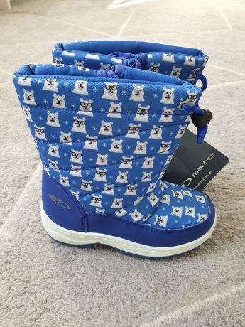 Buty zimowe, NOWE, śniegowce, roz 27