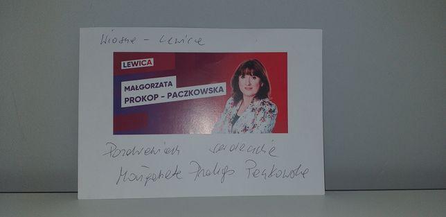 Autograf - Małgorzata Prokop - Paczkowska