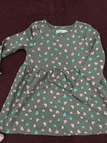 Детское платье fox & bunny. 92