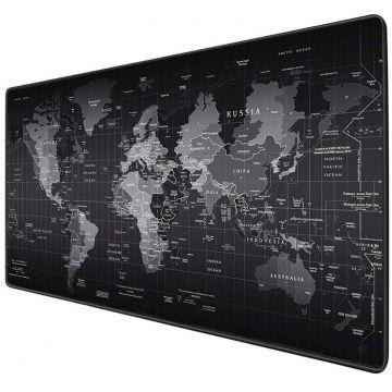 Килимок для миші великий Black map / Карта світу mousepad 300/700/3mm
