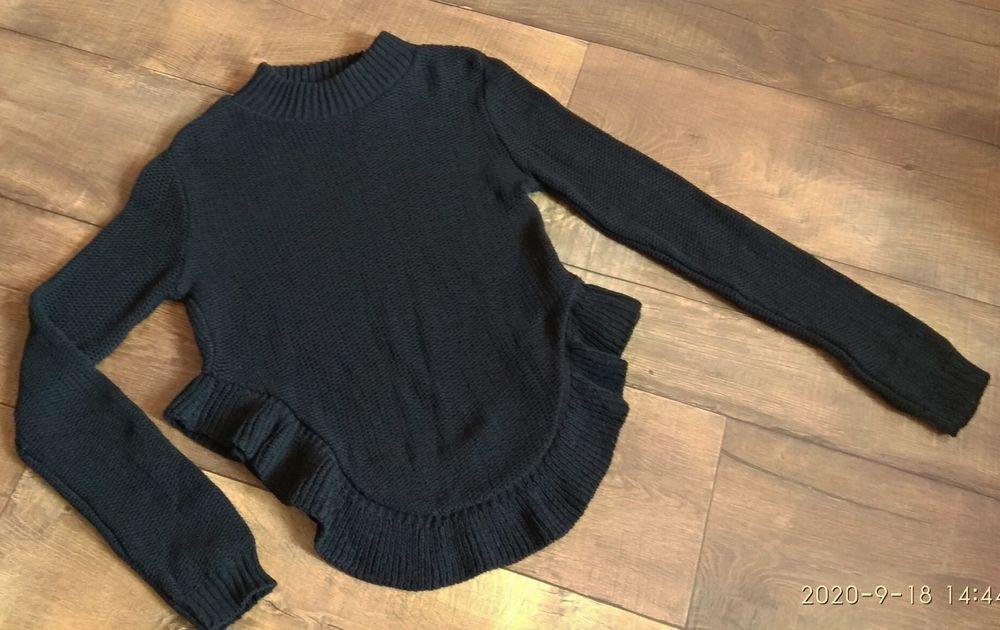 Свитер свитшот кофта гольф водолазка s женский чёрный Одесса - изображение 1