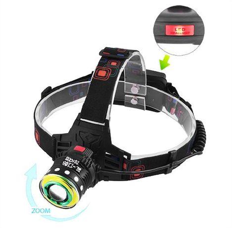 ХИТ! МОЩНЫЙ налобный фонарь Police T105-T6+COB фонарик для РЫБАЛки