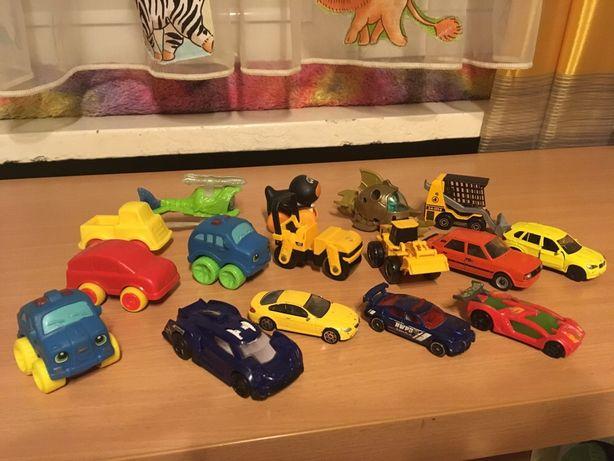 Samochodziki, pojazdy, samoloty,koparki 16 sztuk sprzedam