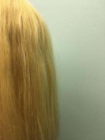 Włosy blond długie naturalne