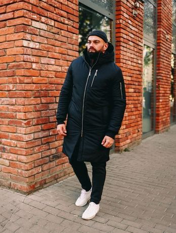 мужская зимняя куртка,пуховик,теплая парка Оллблек на меху