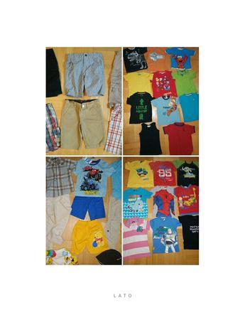 Zestaw 41szt letnich ubranek chłopięcych 110-116+gratis 6 t-shirtów