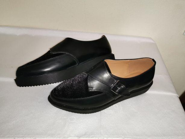 Sapatos plataforma novos