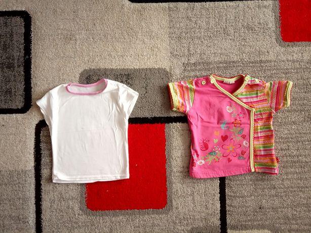 2 bluzki r. 68 dla dziewczynki