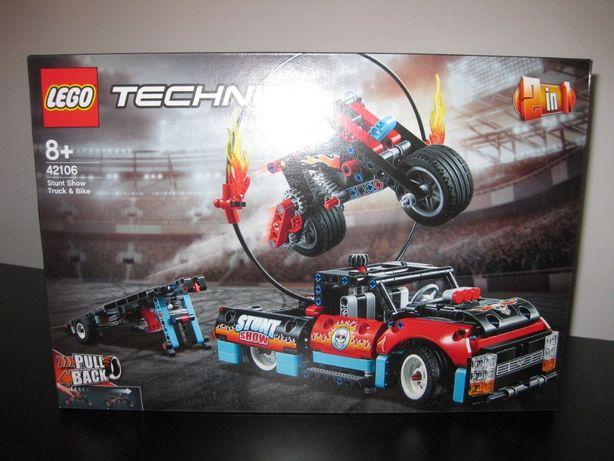 LEGO Technic - Espectáculo Acrobático: Camião e Moto - 42106 - NOVO