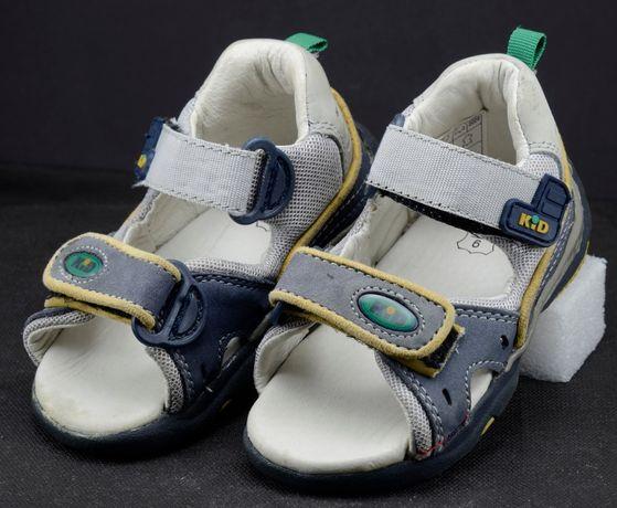 Фирменные кожаные босоножки сандали KID для мальчика р.23 14,5 см