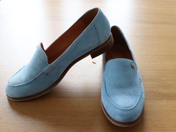 Błękitne mokasyny damskie BADURA 37