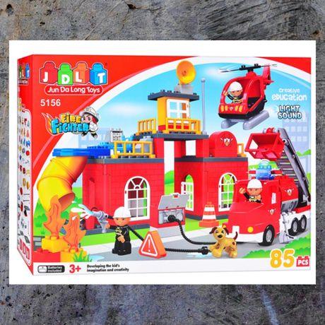 Конструктор «Пожарная станция» 85 деталей !