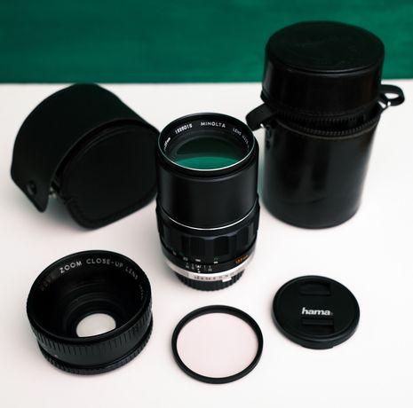 Minolta MC Rokkor PF 135mm F/2.8 + extras