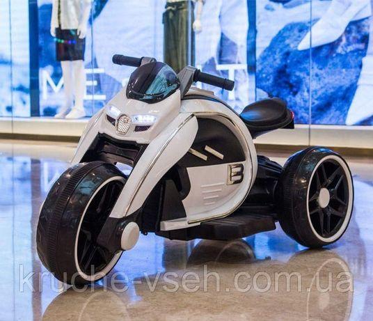 Детский электромобиль Мотоцикл M 4134, музыка, свет, надувные колеса