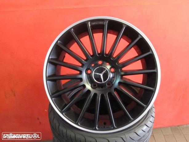 Jantes 18 NOVAS Mercedes AMG Pretas Polidas C/ pneus usados