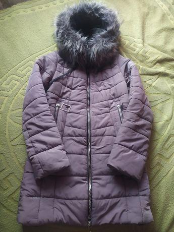 Зимняя куртка удлиненная 40-42р, xs-s