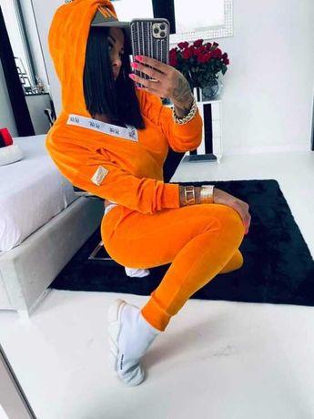Dres welur pomarańcz Lola Bianka