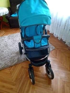 Wózek spacerowy niebieski
