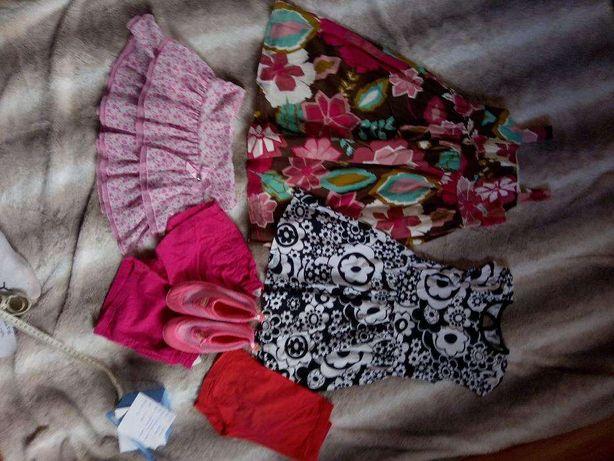 ubranka dla dziewczynki 110/ 116 5-6 lat cena komplet
