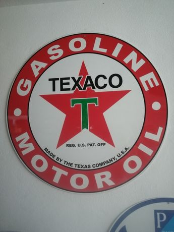 Placa Publicitária Texaco