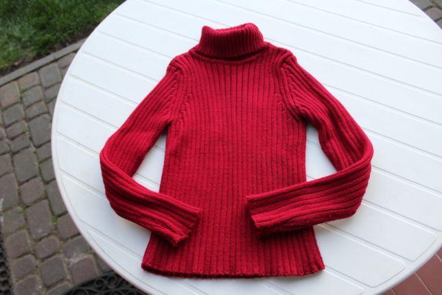 bordowy sweter golf rozmiar 38