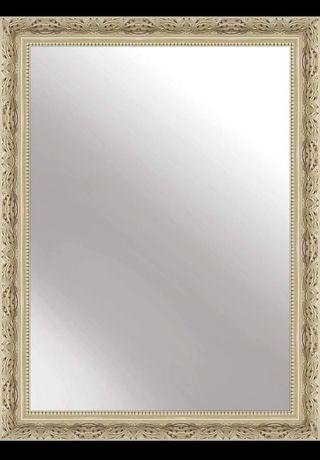 Lustro ścienne zdobiona rama 50x70