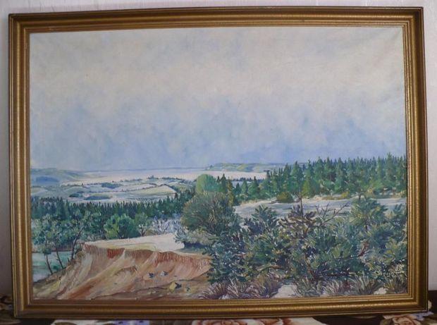 Duży obraz olejny Krajobraz