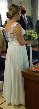 Suknia ślubna 2020 rok stan idealny 40
