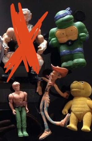 Bonecos pvc e outros anos 80 (He man anos 80 turtles lucky luke etc