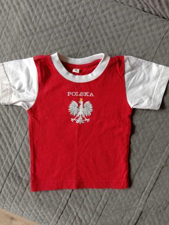 "Koszulka małego kibica ""Polska""  (na 1,5-2 letnie dziecko)."