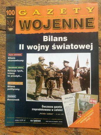 Gazety Wojenne numery 1-100, bez nr 19 + kilka kaset VHS.