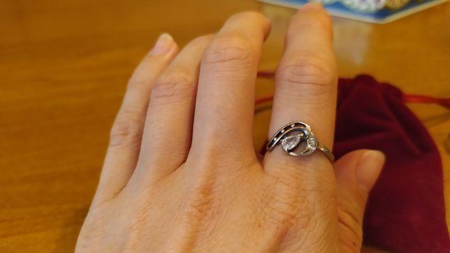 Кольцо серебро 925 проба 16,5 размер