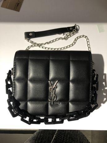 Сумка стёганая чёрная Louis Vuitton