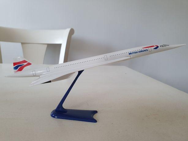 Avião Concorde escala da British Airways BA vintage 1:250