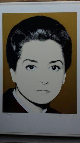 2 Serigrafia de Leonel Moura - Eunice Muñoz e Maria João Pires