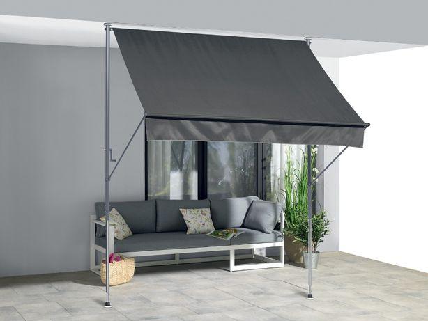 Nowa – Markiza na balkon lub taras 200 x 150 cm – antracyt – tarasowa