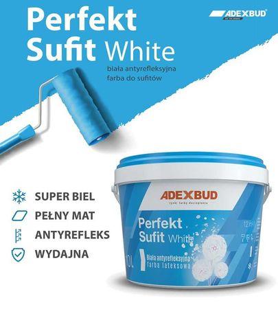 Biała antyrefleksyjna lateksowa farba sufitowa 10L