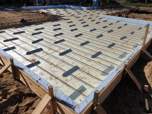 Płyty fundamentowe, fundamenty budowa domow