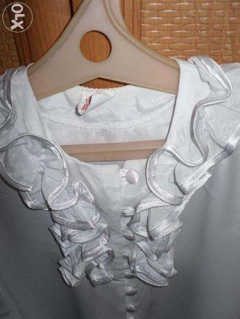 Шикарная школьная блузка на рост 152 см. Качество!!!