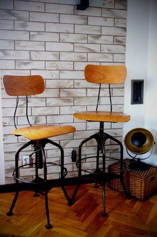 Krzesło barowe, hoker, stołek - loft industrial jak nowe