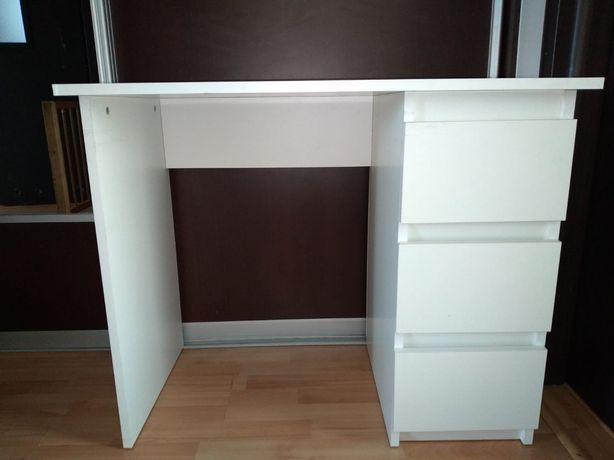 Białe Biurko 105 x50 cm