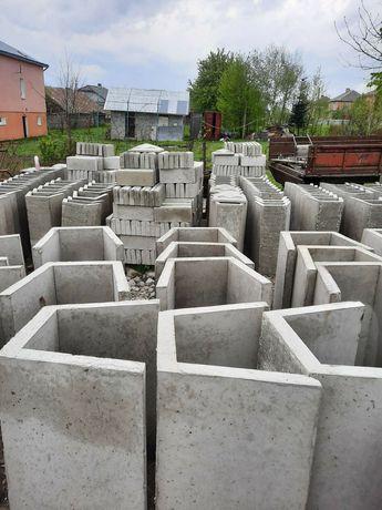 Продаємо бетоні капелюхи, бардюри та залізо бетонні жолоба-лотки.
