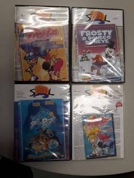 Pack com 4 DVD's Infantis (Jornal Sol)