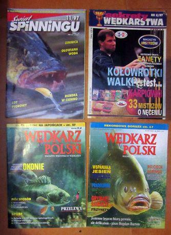 Czasopisma Wędkarz Polski 10/1997 nr 1/1998 Świat spinningu 11/97