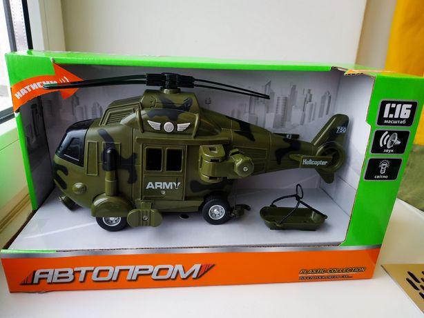 Вертолет военный (Свет,звук). Гелікоптер дитячій