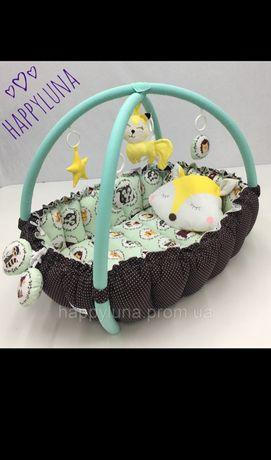 Дитячий ігровий розвиваючий килимок - Кокон гніздечко для новонароджен