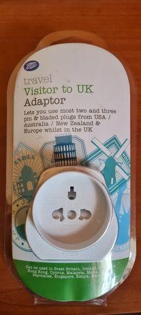 Nowa przejściówka/adapter sieciowy z UE/AU/USA/NZ na Wielką Brytanię