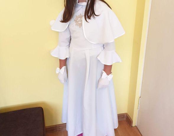 Alba sukienka do komuni św rękawiczki 146