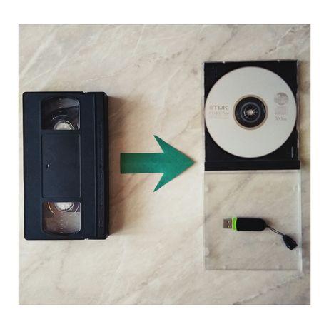 Оцифровка видеокассет фотографий, книг