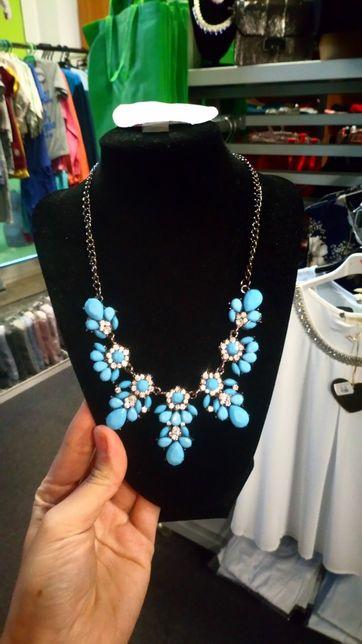 Naszyjnik różne wzory odcienie niebieskiego do sukienki wesele itp